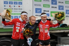 Men podium, WOC2016 sprint