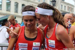 Elena Roos (4.) con Judith Wyder (3.)Diego Baratti