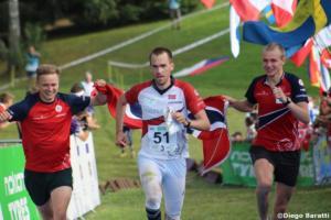 Norwegian men team(NOR), WOC 2018  relay, Diego Baratti