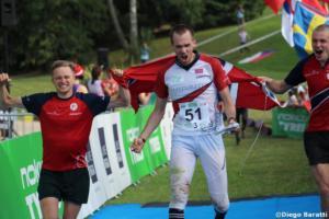 Norwegian men team(NOR), WOC 2018  relay, Diego Baratti   (2)