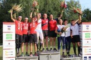 Podium men, WOC2018, relay, Diego Baratti