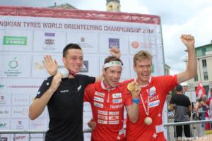 Podium men, WOC2018 Sprint Final