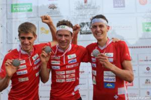 Swiss men medals WOC 2018  relay, Diego Baratti    (2)